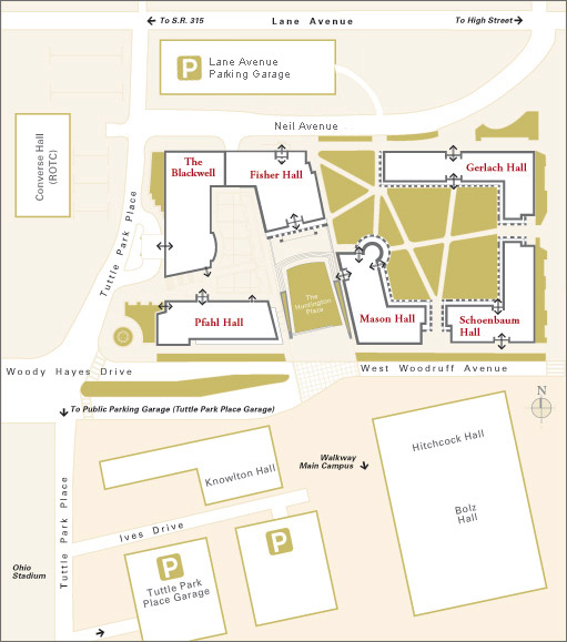 st john fisher college campus map Maps And Directions Fisher College Of Business st john fisher college campus map