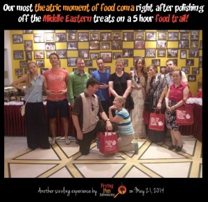 The RISE team that went on our food adventure and our new international friends after our tour