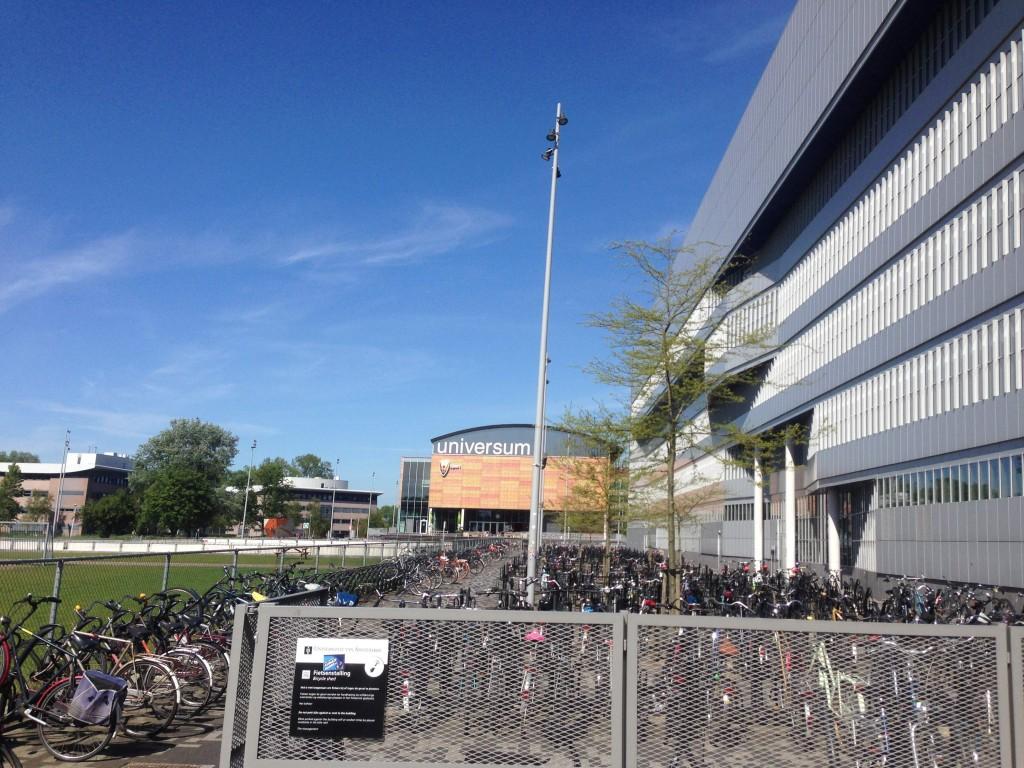 Bike Rack at the University of Amsterdam