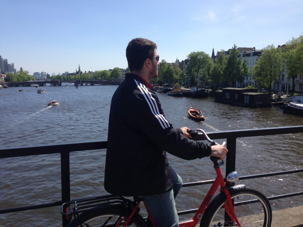 Sammy on Bike