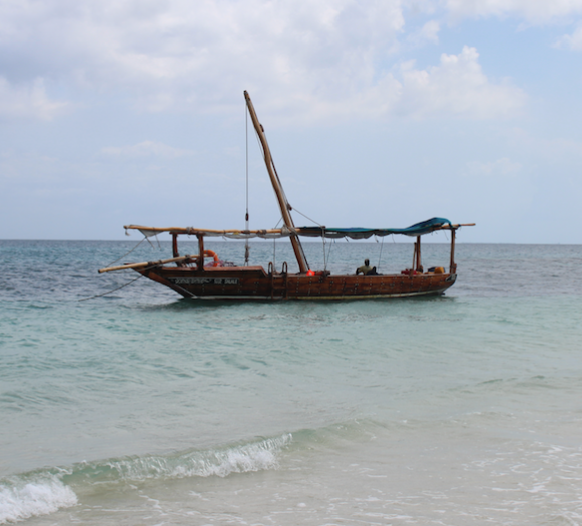 Our trusty dhow - the Salale.