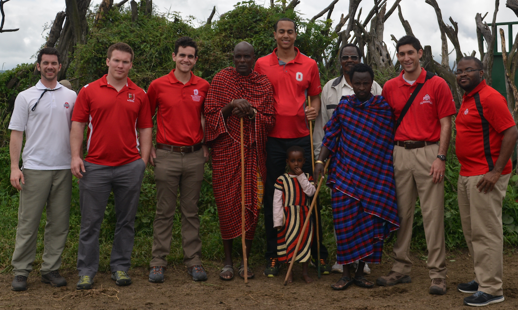 The GWI team with a few of our Masai hosts.