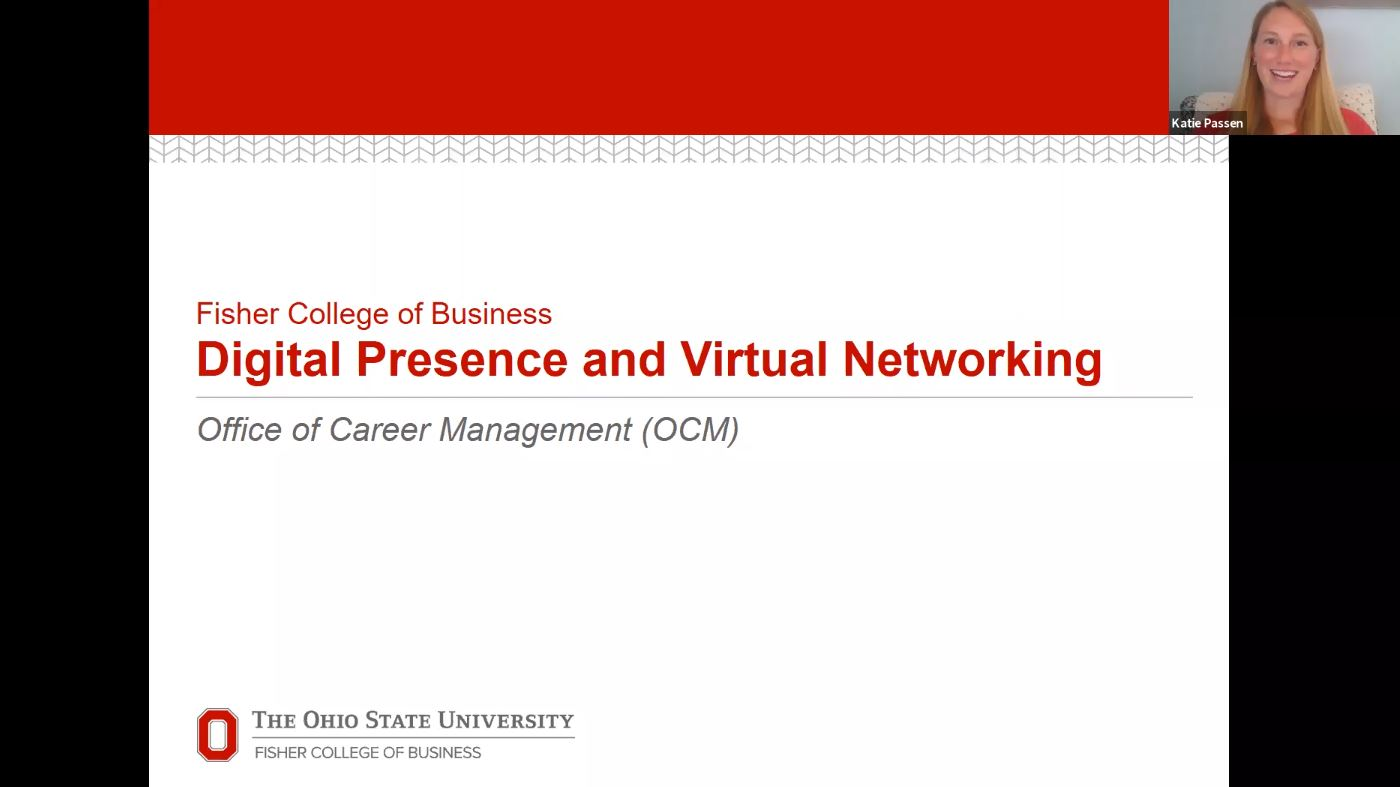 Digital Presence and Virtual Networking Webinar
