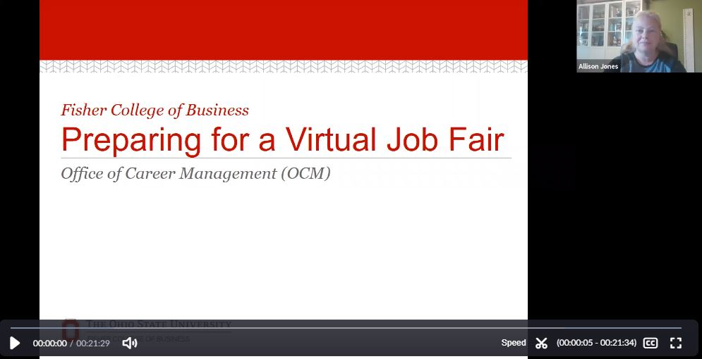Preparing for a Virtual Career Fair Webinar