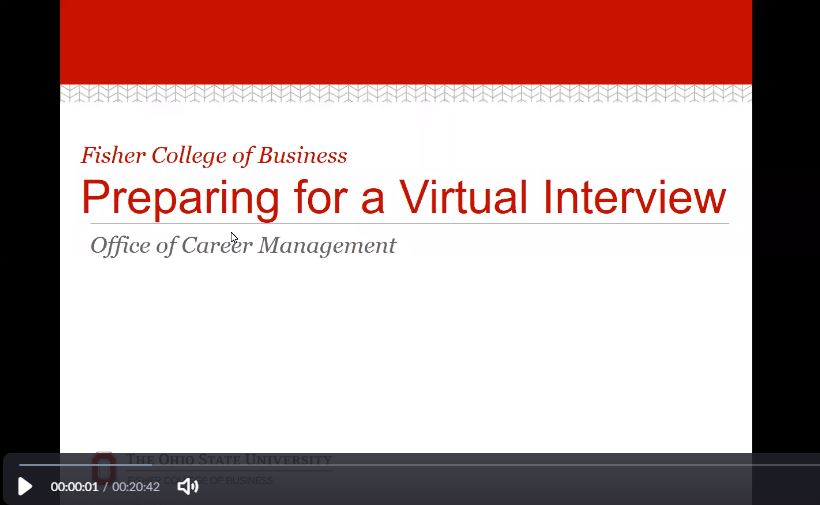 Preparing for a Virtual Interview Webinar