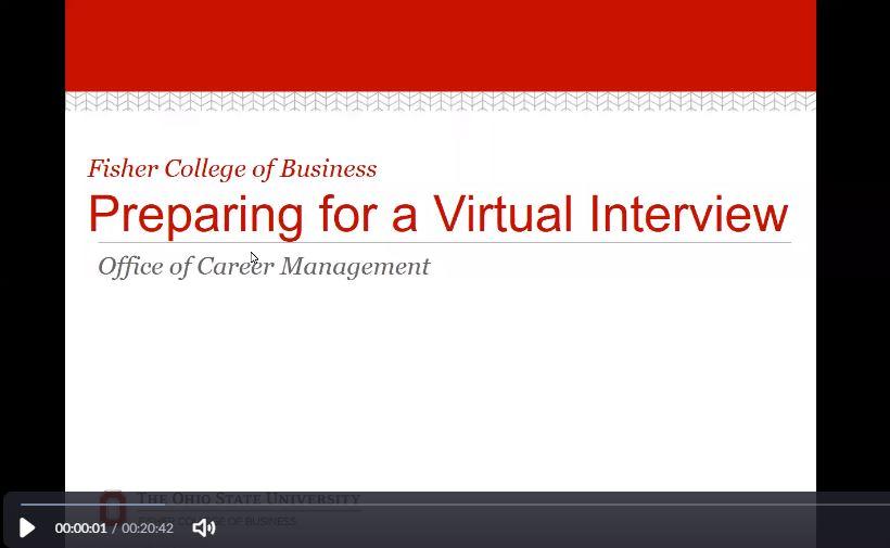 Preparing for a Virtual Interview Webinar