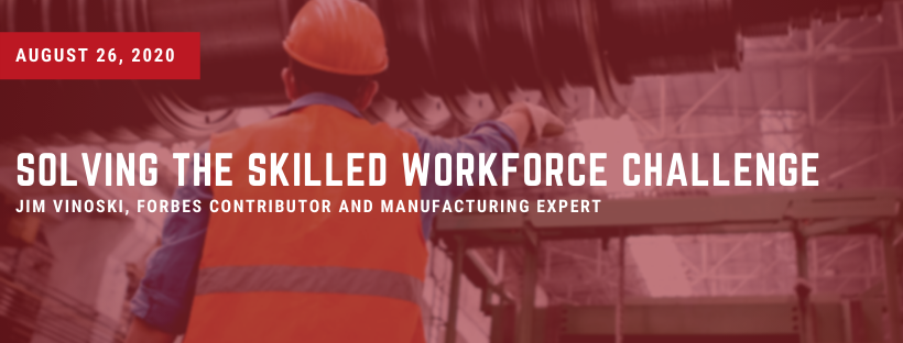 Worker in a Vest in a Manufacturing Plant with text overlay of title