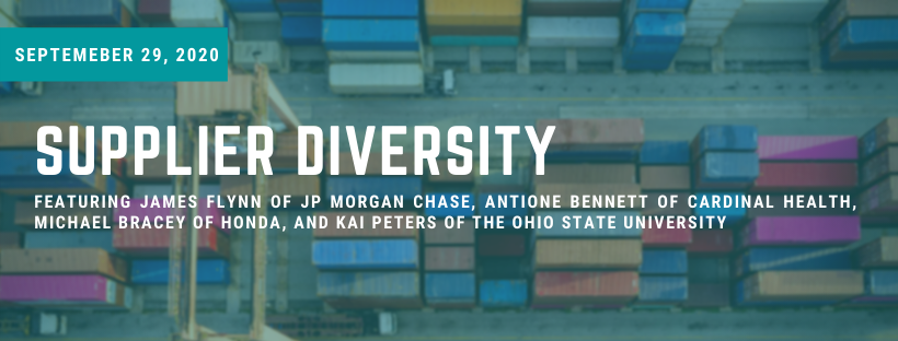 Variety of multi-colored shipping crates with title 'supplier diversity' overlayed