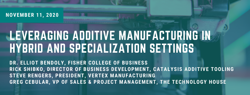 3D printing machine with text overlay: Leveraging Additive Manufacturing in Hyrbid and Specialization Settings