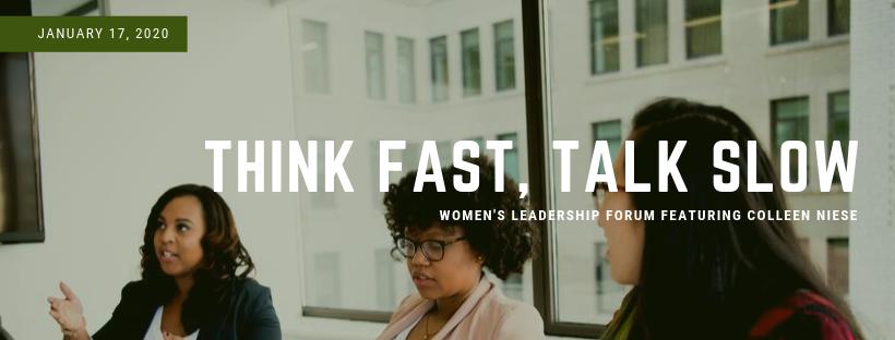 think fast talk slow