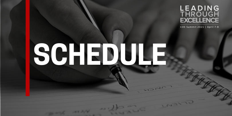 black and white image on hand holding pen, text overlay that reads: SCHEDULE