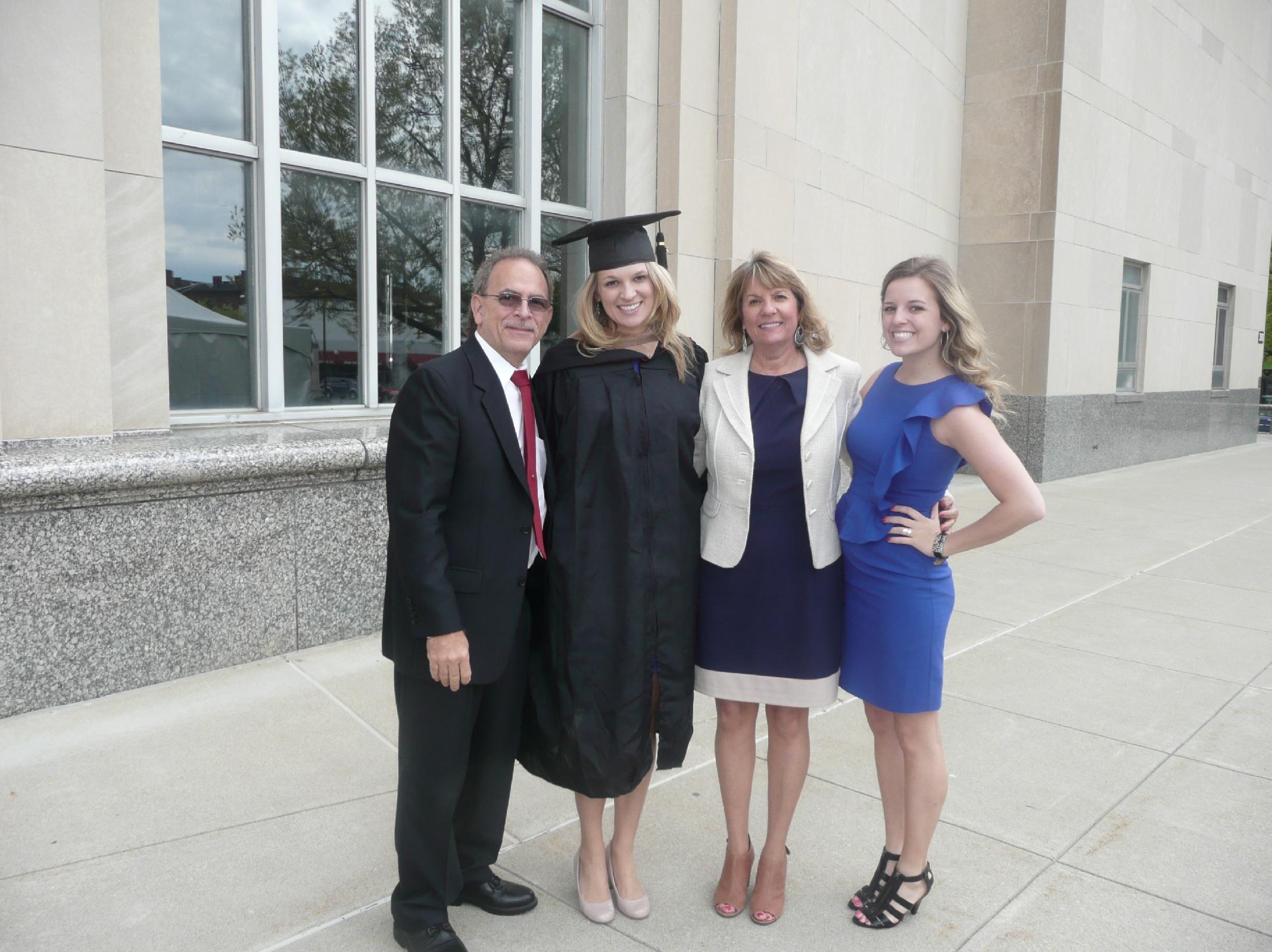 Reynolds  family at graduation!