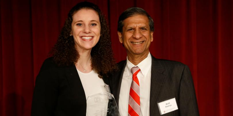 Posing for a picture with Dean Makhija at the Pace Setters Ceremony last year
