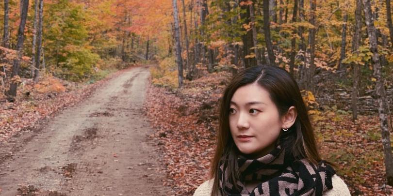 Maple Leaves scene at Hocking Hills