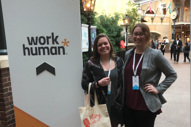 This is me at the WorkHuman Conference in 2019. This event really challenged my networking skills! It also was the event that helped me realize how beneficial networking can be.