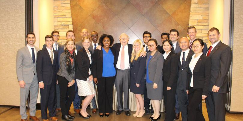 SMF Students with Warren Buffett