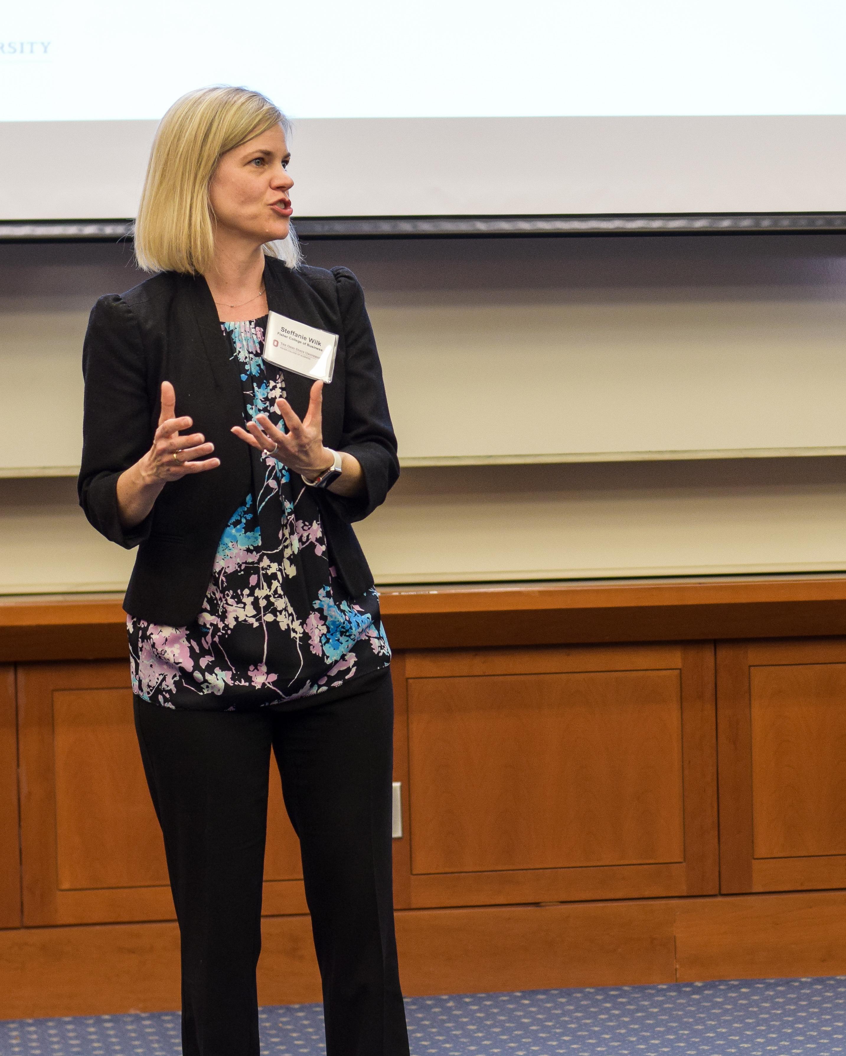 photo of presenter