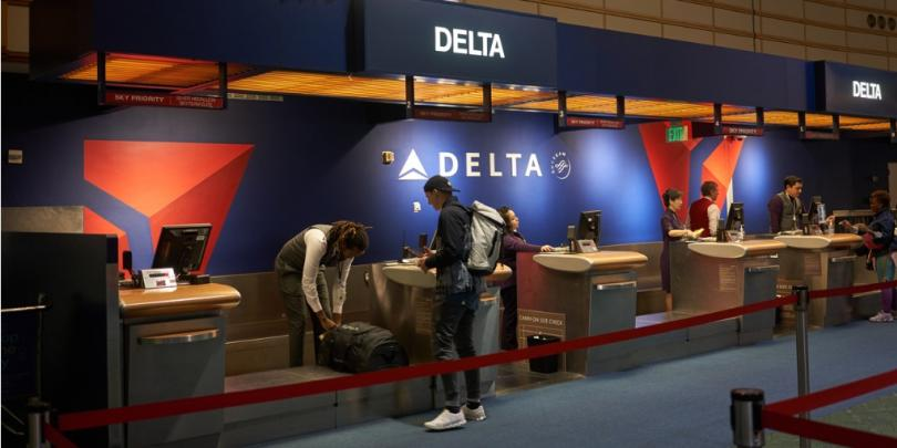 checking in at Delta airlines