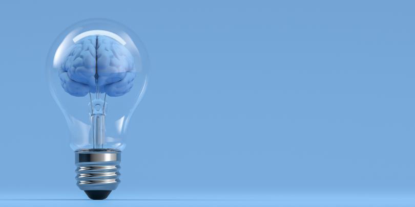 image of a brain in a lightbullb