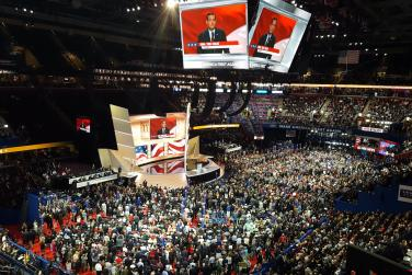 Wide shot of Republican National Convention in 2016