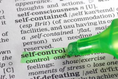 self-control listed in dictionary