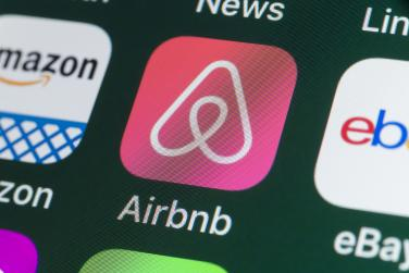Airbnb app on phone screen
