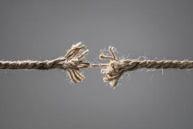 rope being pulled apart from both ends
