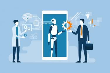 artificial intelligence helping business person
