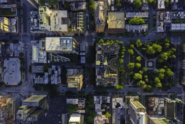 Bird's-eye view of a city