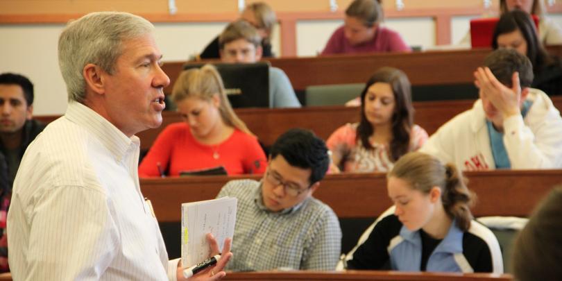 Lecturer teaching