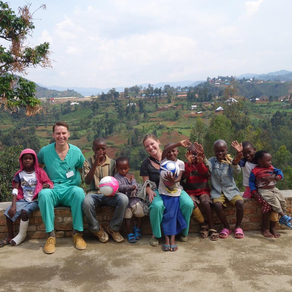 Aaron Wilcox in Rwanda