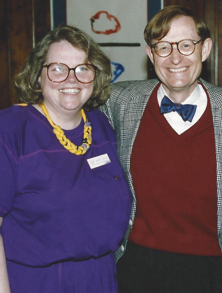 Barbie Tootle and former Ohio State president, E. Gordon Gee in 1993
