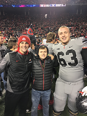 Connor Buehler at an Ohio State football game.