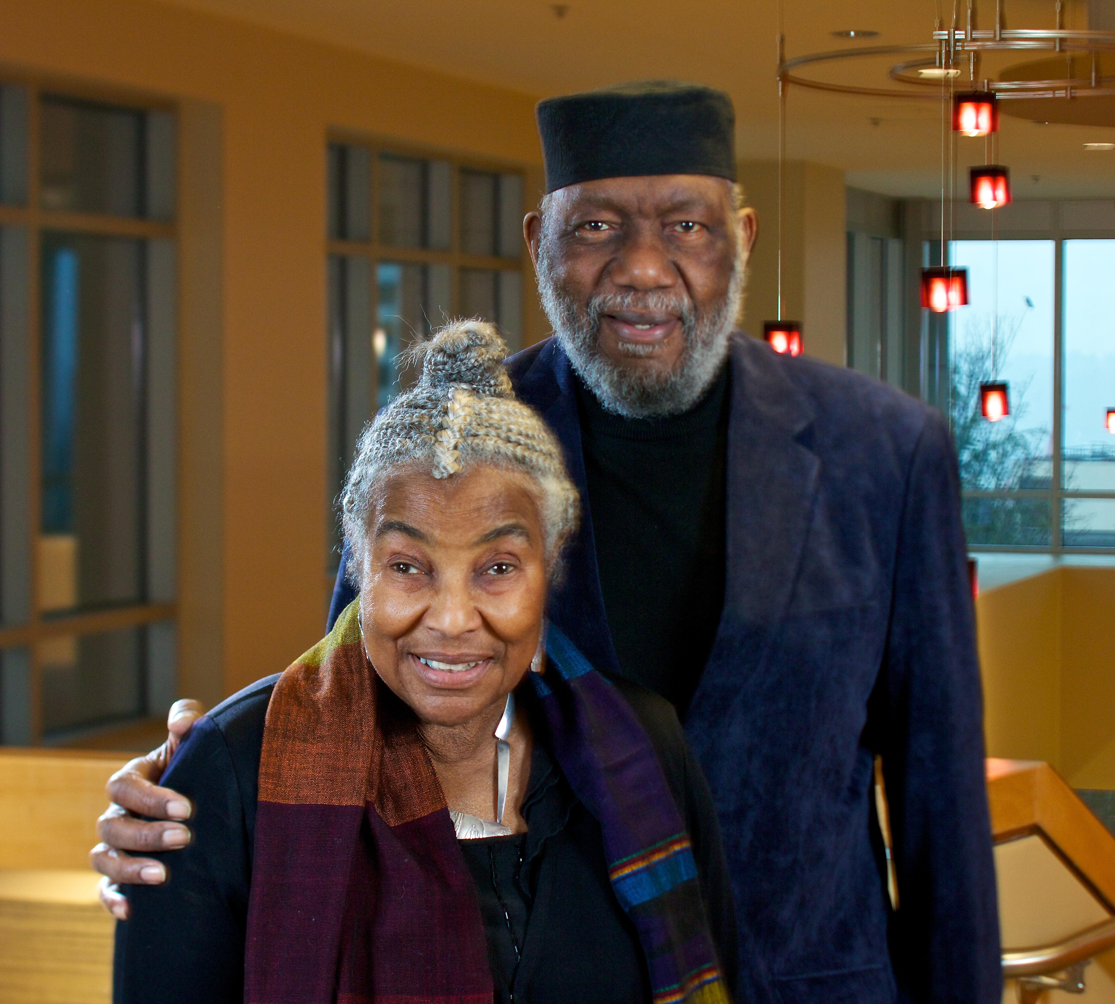 Lois Price Spratlen and Thaddeus Spratlen pose for a photograph.