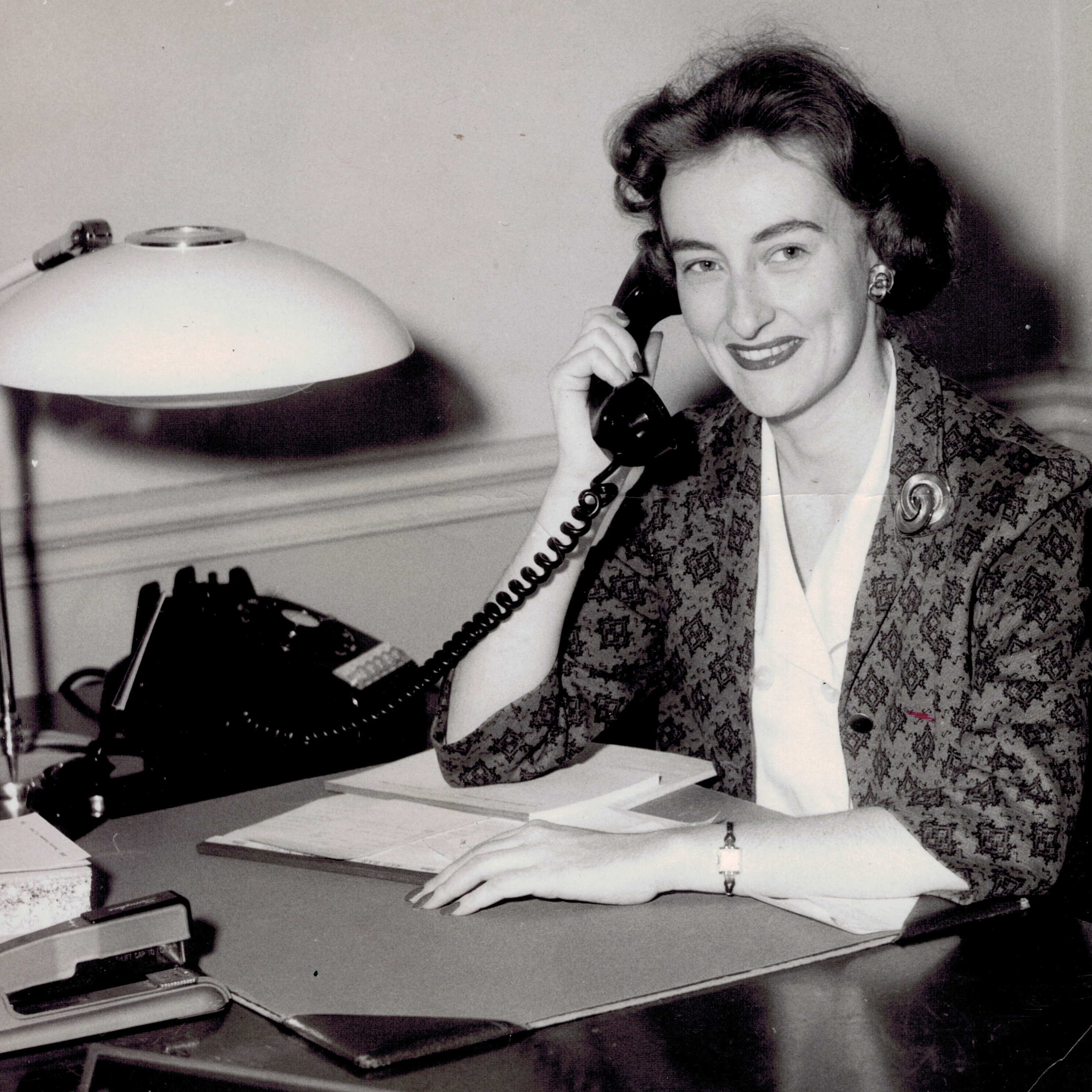 Marilyn, on a phone call, working