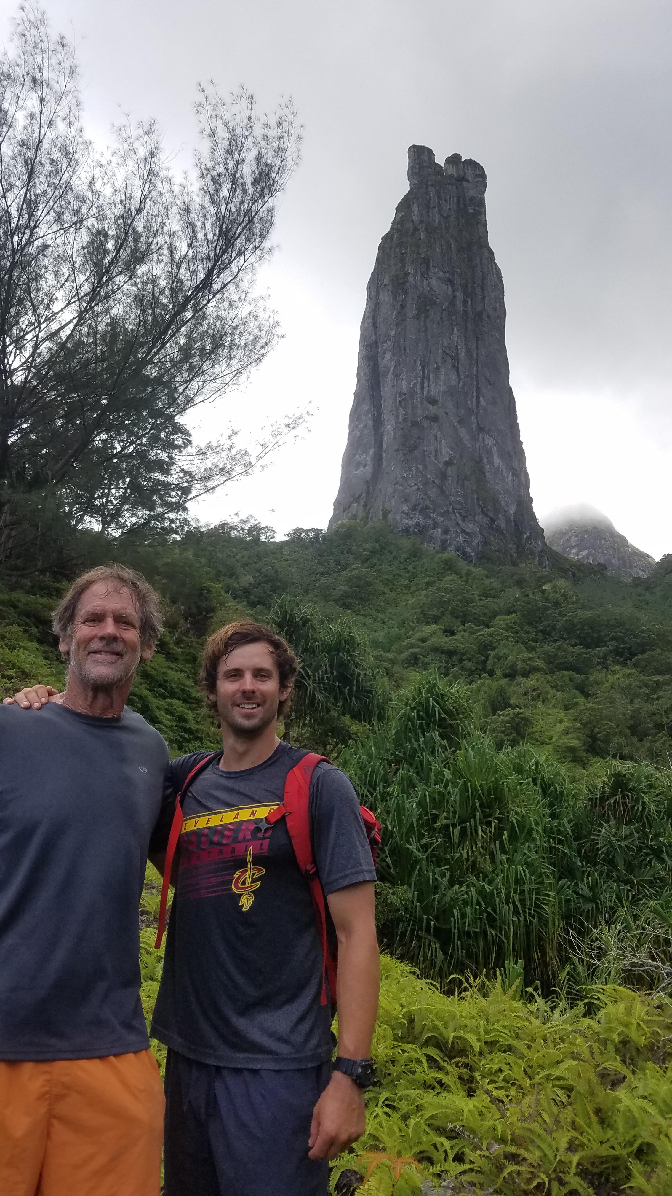 Travis Steinemann and his father
