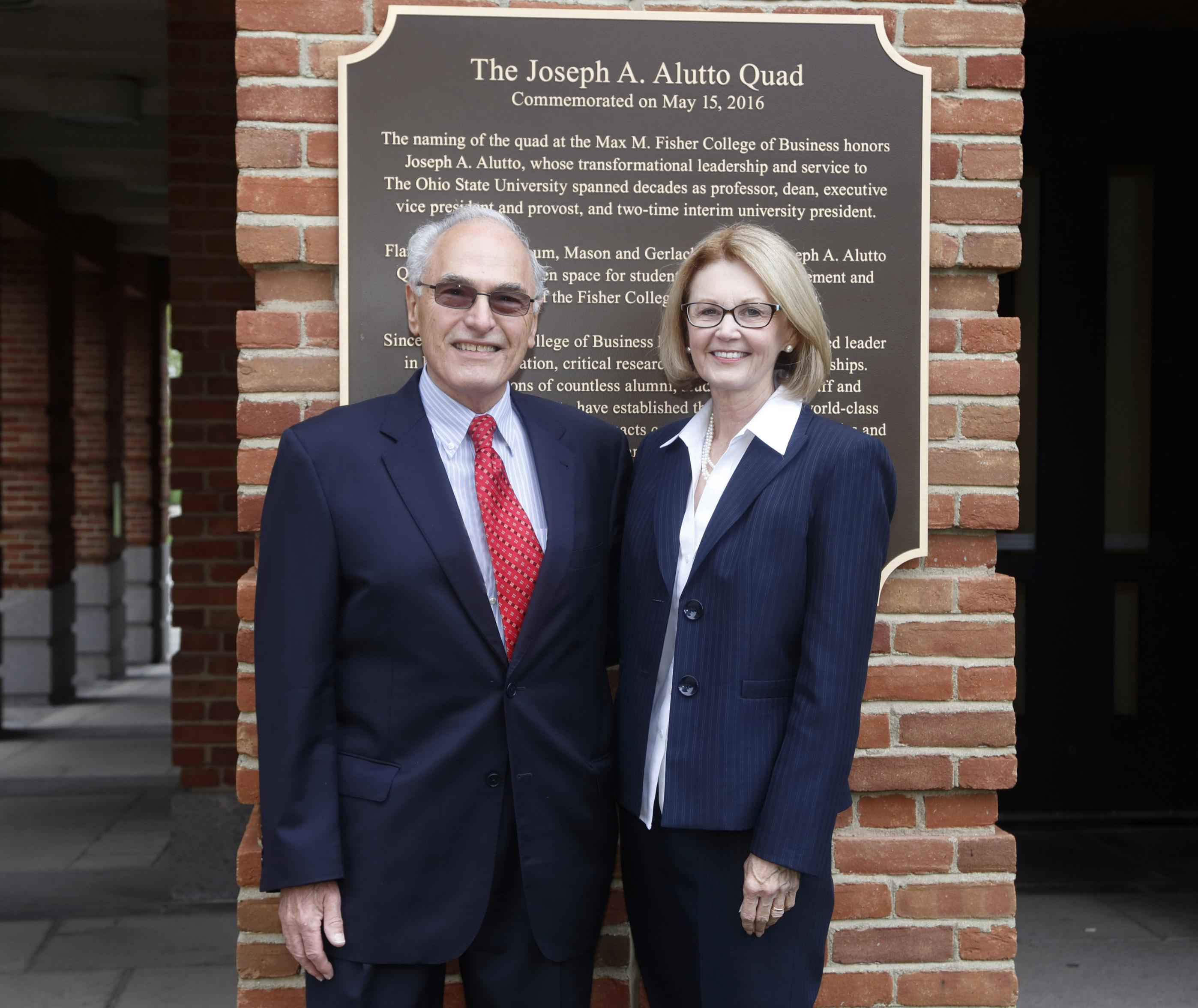 Carol Newcomb and Joe Alutto