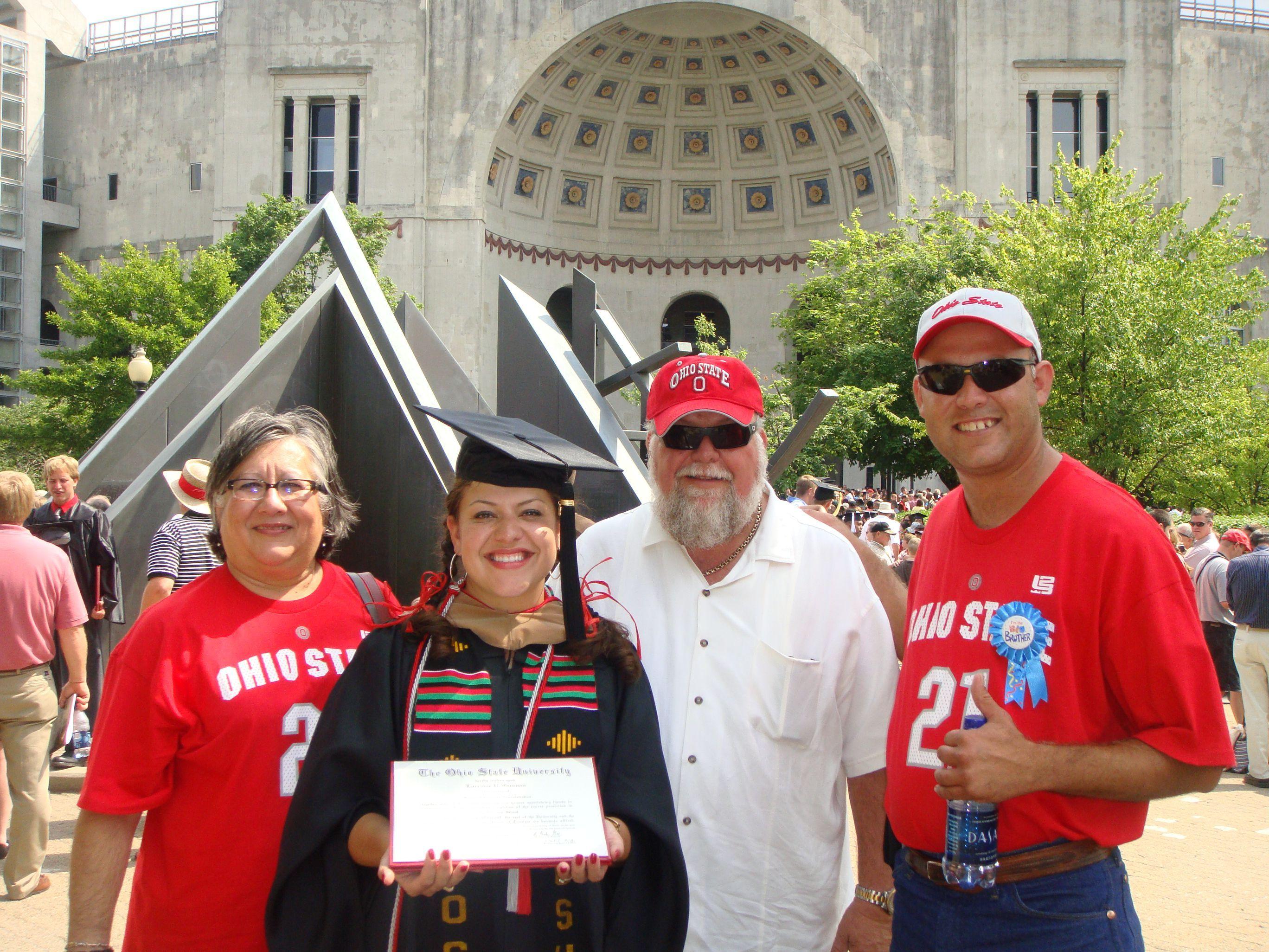 Lori Castillo on graduation day.