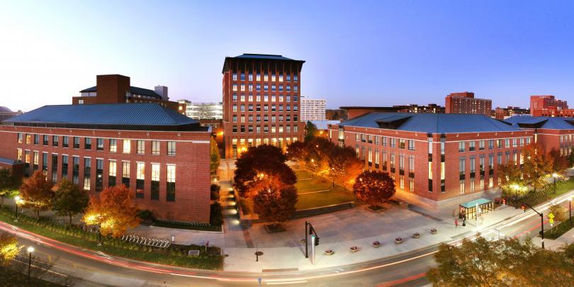 Panoramic photo of Fisher campus