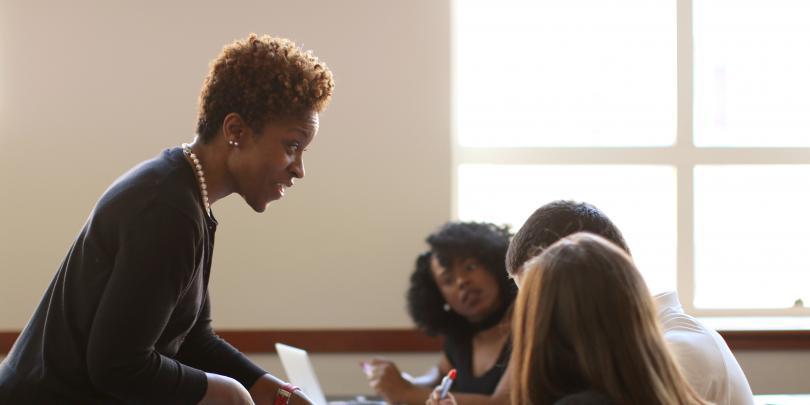 Cynthia Turner in a classroom
