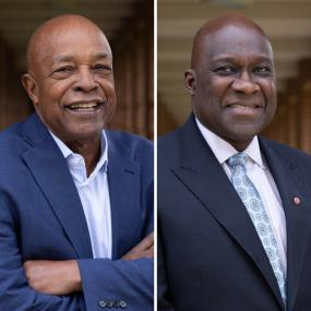 Ken Coleman (BS '65, MBA '72) and Jesse Tyson (MBA '76)