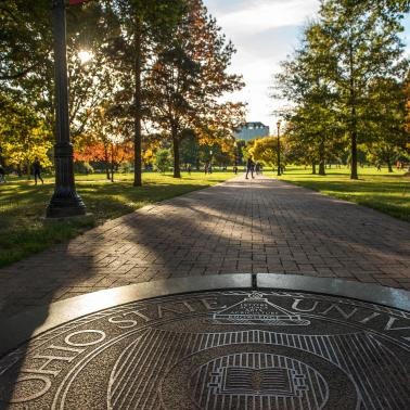 Ohio State seal on the Oval