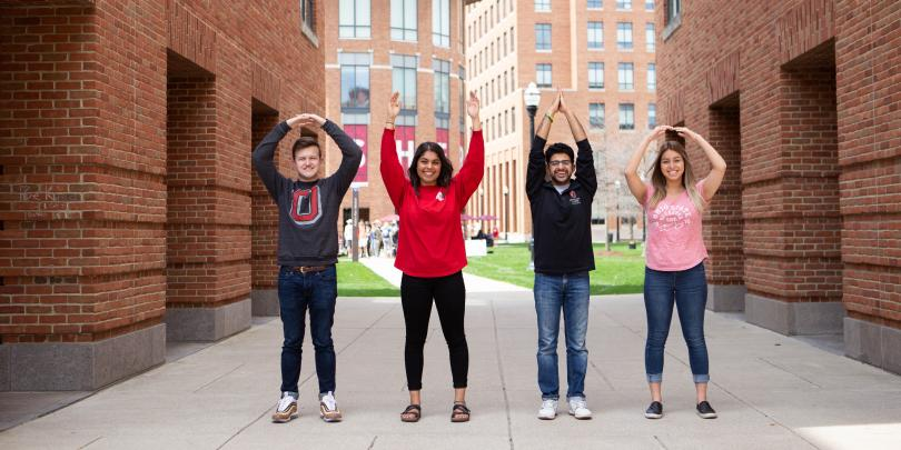 O-H-I-O on Fisher's campus