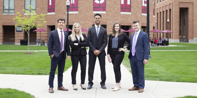 Fisher students in business professional wear